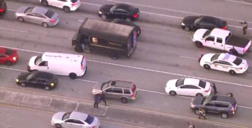 UPS Truck Jewelry Heist Shootout